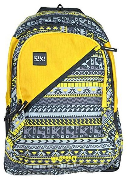 ffa3c6b98856 Wildcraft Polyester 46 Ltrs Yellow School Backpack (Wiki 7 Aztec 6 ...