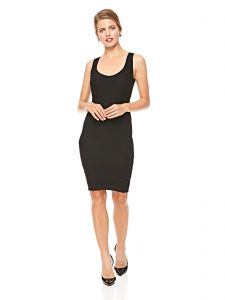 Bebe Solid Bodycon Dress for Women - Black 0be763f38