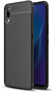 VIVO NEX S 2018 Lichi Patterm Slim Shockproof Silicone TPU Case Cover