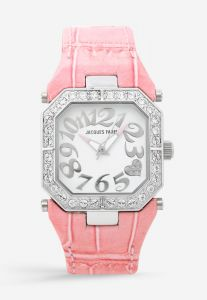 Jacques Farel Fasinon Watches for Women Casual Watch Leather Pink Strap and  White Dial FCK1125 ea795fcaa25