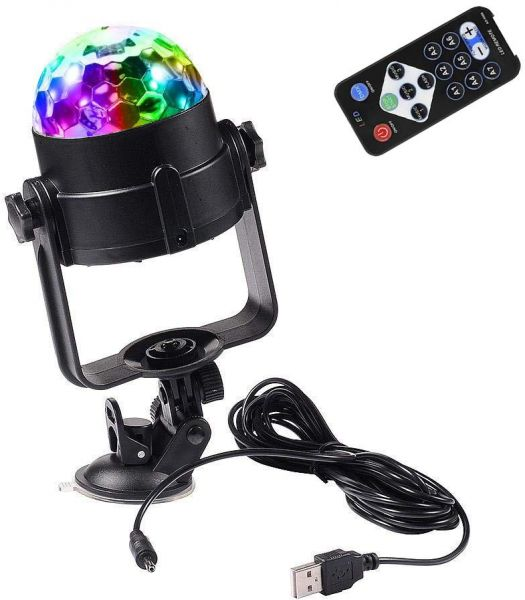 Muliti Color Stage Light DJ Ball Lights Crystal Magic Lamps Party Lighting Lighting for Car Outdoor Party Wedding Birthday Camping, Sound Actived LED Lights Disco DJ Effect Lamp