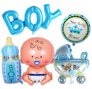 5Pcs Children Baby Shower Boy Kids Party Decoration Giant Foil Balloon Birthday Decorations Supplies