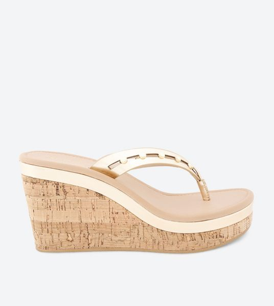 Aldo Wedge Sandals for Women - Gold