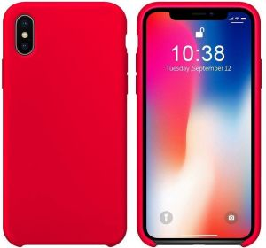 cover iphone x sillicon - Red