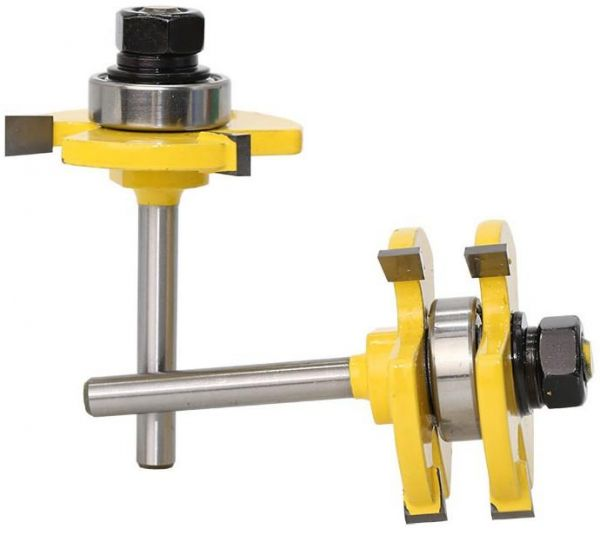 Tongue and Groove Router Bit Set Wood Milling Cutter Flooring Tool