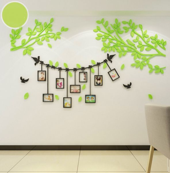 3d wall stickers acrylic photo wall photo frame tree living room3d wall stickers acrylic photo wall photo frame tree living room bedroom wall warm decoration creative self adhesive wall decoration wall stickers xsq