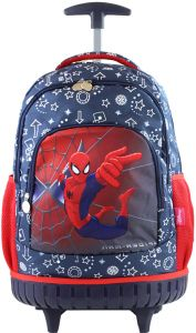 4dfa899f650d spider man Kids  Rolling Latop School trolley Backpack 17inch 3-12years old