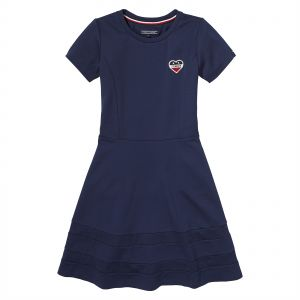 ba8084fc9 Tommy Hilfiger A Line Dress for Girls - Navy Blue | Souq - UAE
