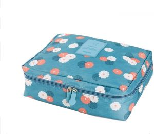 Korean version of the multi-function waterproof Oxford cloth Cosmetic  storage bag Portable double-layer travel beauty storage wash bag dd63bbd6b9d49