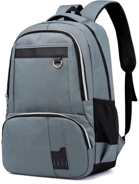 4214e94f84f5 Y D Student s Bag Plain Style Zipper Preppy Large Capacity Chic Solid Color  School Backpack Grey Color
