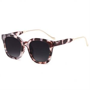 aa53f481def SOJOS Modern Square Women Sunglasses Polarized Lens with Slim Metal Temples  - Black Lens