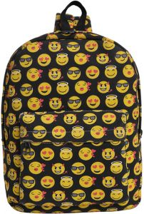 0d15b9b216 Women s Backpack Emoji Pattern Casual Canvas Schoolbag