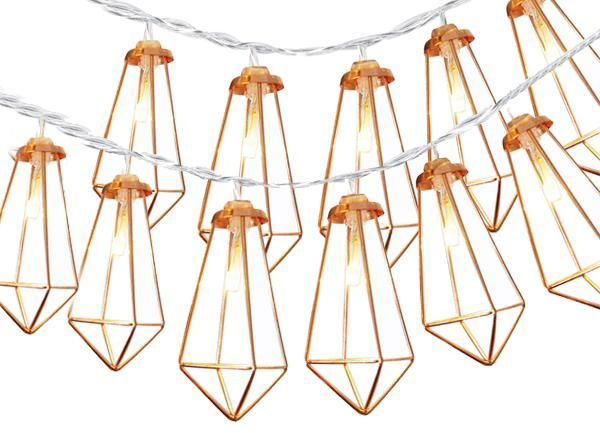 2 Packs Home Christmas Decoration String Lights 20 Led Party Warm