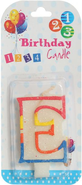 Birthday Candle Letter E By Other Candles