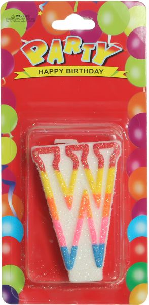 Birthday Candle Letter W