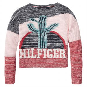 b0c09b863 Tommy Hilfiger Sweater for Girls - Multi Color