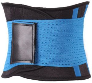 50ad0cc803c Waist Trainer Adjustable Belt - Slimming Body Shaper - Sports Belt Girdle -  BLUE - Medium