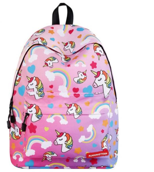 60781554cb03 Girl s Cartoon Unicorn Backpack Big Capacity Daypack Casual School Bag