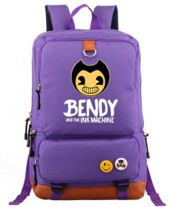 018602ab863bf Bendy And The Ink Machine series design canvas  backpack