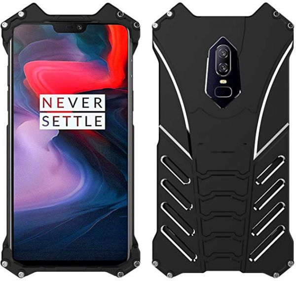 OnePlus 6 Aluminum Metal Bumper Case Military Shockproof Heavy Duty Armor  Rugged Tough Slim Cool Outdoor sport Hybrid Cover For One plus 6