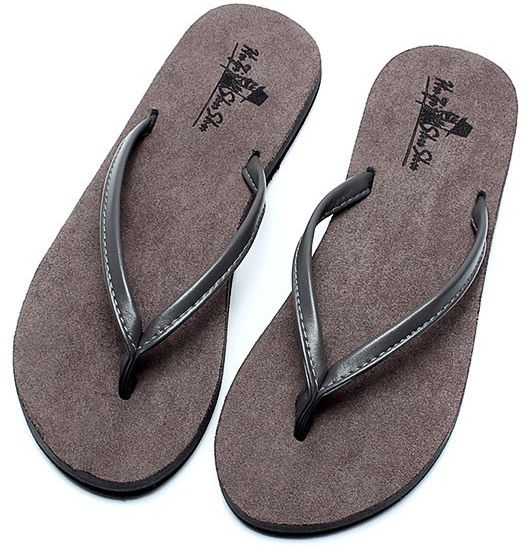 31ba343a62bb Flip-flop unisex summer slip sandals couple beach shoes Europe and America  toe suede men and women Heel Casual slippers