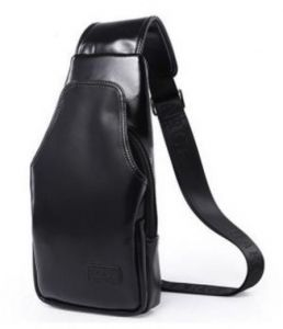Men s Wearable Chest Bag Black Single Outdoor Outdoor Shoulder Fashion  Casual Bag 51743fc8d407