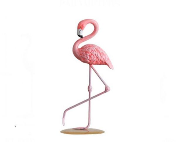 1 Piece Resin Pink Flamingo Home Decor Figure For Girl Ins Hot Gifts