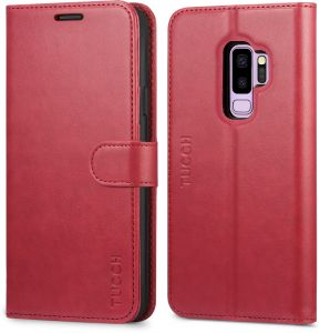 dec35176df305 Galaxy S9 plus case,Samsung S9 plus case cover,TUCCH Multifunction Premium  PU Leather Wallet Book Case compatible with Samsung Galaxy S9 plus with ID    Card ...