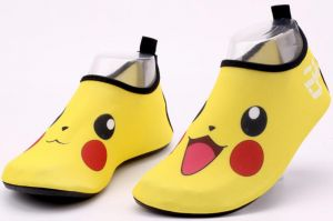 eb710920ad2d Water Shoes Barefoot Quick-Dry Aqua Yoga Socks Slip-On Pikachu Design  Outdoor beach surfing Sports Parenting Shoes