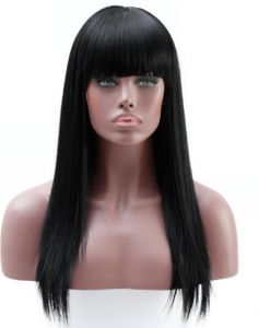 Explosion models Europe and the United States ladies wigs natural black  qiliuhai smooth long straight wigs 96bf0ed5c376