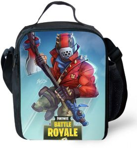 a4316283b55601 Cartoon Kids Lunch bag Fortnite lunch tote Handbag Outdoor Picnic Lunch bag