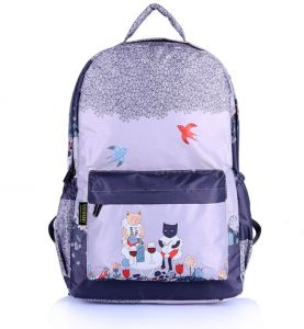 3d8fc69e5ea9 Korean fashion cartoon waterproof kids backpack bag Computer Canvas Travel  bag 44x32x14cm ss