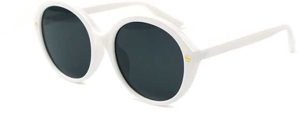 Colorful Transparent Round Super Retro Sunglasses Casual Block Uv