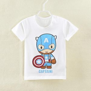 274005a5 Summer Children's Wear Baby T-shirt Captain America Letter T-Shirt Top T- Shirt 2-6Y