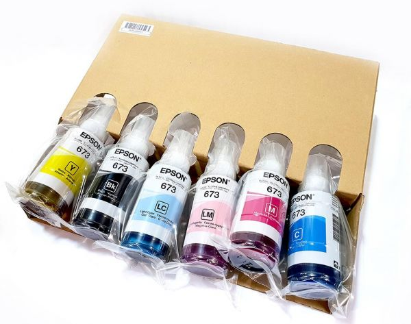 Epson 673 INK, packing ink  From Epson L1800,Epson L805 printer  For Epson  L1800 L805,L800,T50,T60,1410,
