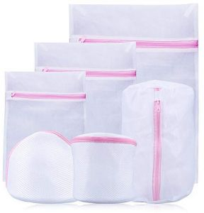 525f93b9b Set of 6 Mesh Laundry Bags with Zip Lock-3 Large 3 Medium for Laundry