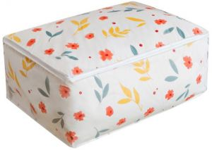 Flower Large Storage Bags, Foldable Under Bed Storage Bag Moisture Proof Household Organizers for Comforters, Blanket, Bedding, Clothes, Pillows, Clothing ...
