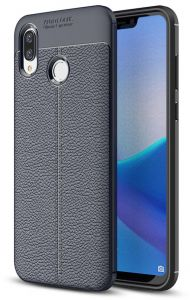 Huawei Honor Play Leather Skin case cover - Blue.