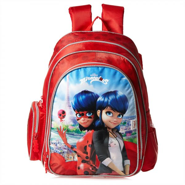 e7c38bf728 Mbc Miraculous School Backpack for Girls - Red