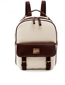 College Wind Student Bag Wild PU Travel Backpack Lady Backpack - Brown 93201983ee9df