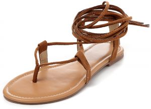 bc95a3a0856 Women s Gladiator Sandals Solid Color Casual Flat Sandals