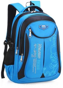 Travel Sports Shoulder Backpack Hiking waterproof Zipper Laptop Bag school  Bag Large Blue - Black 636aad73e35ba