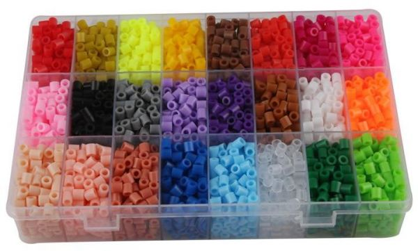 24 Color intelligence toys funny Perler Beads Children Educational jigsaw  puzzle diy Toys Fuse Beads Pegboard for kids