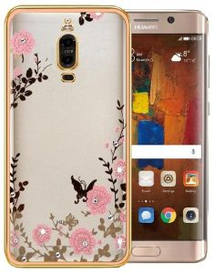 Huawei Mate 9 Pro (Pro) Soft Clear Gold Bling Case Cover