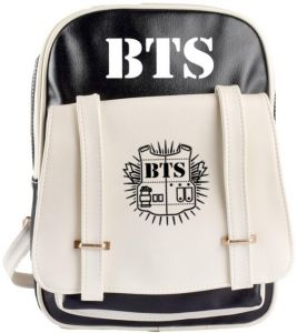 Korea BTS design Multifunctional fashion cool Laptop Travel PU leather  Backpack  b278d5ac370ef