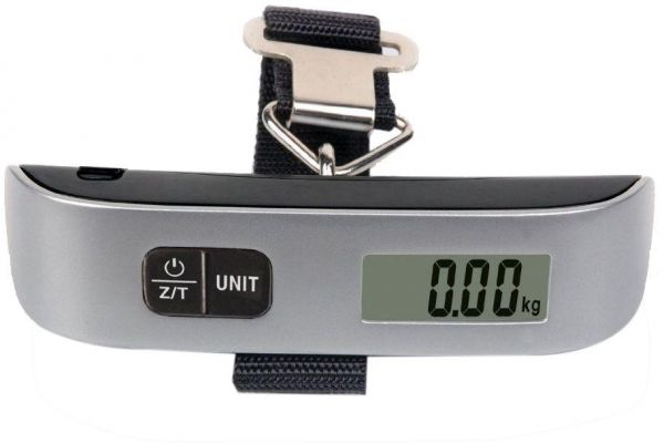 b3f7c9383230 Mini Luggage Electronic Scale Thermometer 50kg Capacity Hanging Digital  Weighing-machine