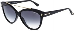 4dbc8e87e5a7 Tom Ford Women s Gradient Livia FT0518-01B-58 Black Cat Eye Sunglasses
