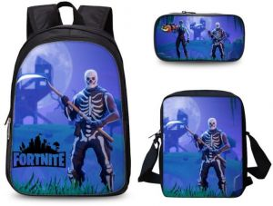 3PCS  set student Printed Game Fortnite Backpack School Bags For Girls and  boys Travel Students nylon School Shoulder Bag Backpack Causal Laptop Bay b635dcbc7bada