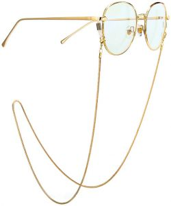 e846b06c883 Eyeglass Chain Stainless Steel Sunglasses Cord Neck Strap Holder - 70cm gold  snakeskin