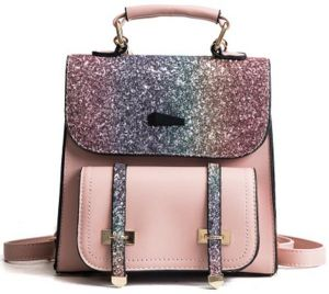 2f1c8f4a68ec Shining Women Sequins Shoulder Bag   Backpacks Teenage Girls Travel Large  Capacity Bags Portable Party Mini School Bags Shoulder Bag for Lady